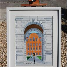 Trinity College Dublin 300mm x400mm framed