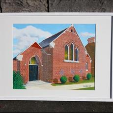 Baptist Church Upper Rathmines Road. 500mm x 400mm framed.