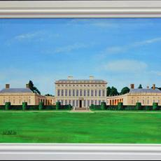 Castletown House, Celbridge 800mm x 525mm. Giclee prints of original painting available either full size or 500mm x 225mm.
