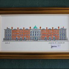 Luke's Dream. A painting of the development plan of 1787 for Mountjoy Square by Luke Gardner 2nd. 800mm x 400mm