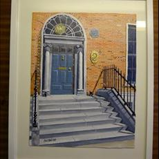 Willian Dargan's Halldoor. At 2 FitzWillian Square East. 300mm x 400mm