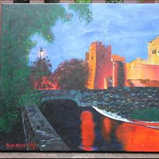 Cahir Castle Tipperary at night. 20