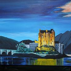 Eilean Donan Castle Scotland by Moonlight. 24