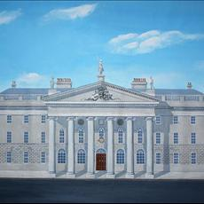 Dublin's GPO as it looked in 1916. 800mm x 520mm acrylic on canvas. Limited edition Giclee prints are available for sale in two sizes. 800mm x520mm and 500mm x 225mm.