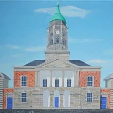 Dublin Castle painting 1350mm x530mm acrylic on canvas. Limited edition giclee prints available for sale full size and 500mm x 225mm.