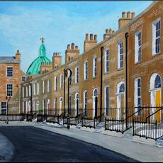 Mount Pleasant Square. Giclee prints 400mm x 300mm of this original are available on canvas.
