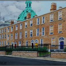 Rathmines Streetscape. Giclee Prints 400mm x 300mm of this original are available on canvas