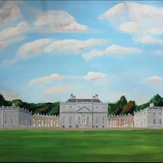 Russborough House Co Wicklow. 800mm x 520mm. Full size and 500mm x 225mm giclee prints available.