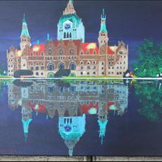 Hanover Town Hall Germany at night. 20