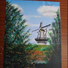 Windmill Holland 2 400mm x 500mm Acrylic on canvas. Sold